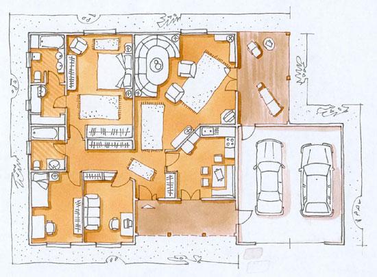 Illustrazione vilfredo maria ricci vilfredo maria ricci for Progetti di case di campagna
